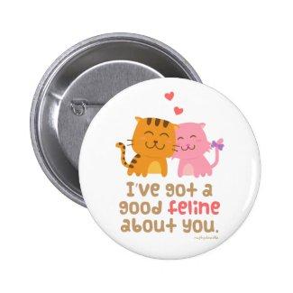 Cute Kitty Cat Love Badge