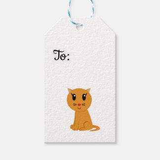Cute Kitty Cat gift tag