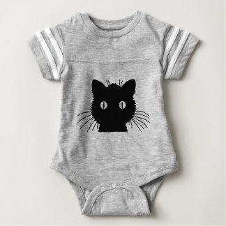 Cute Kitty Cat Head Baby Bodysuit
