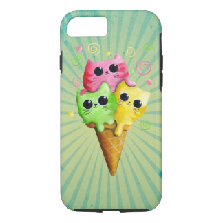 Cute Kitty Cat Ice Cream iPhone 8/7 Case