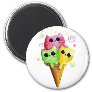 Cute Kitty Cat Ice Cream Magnet