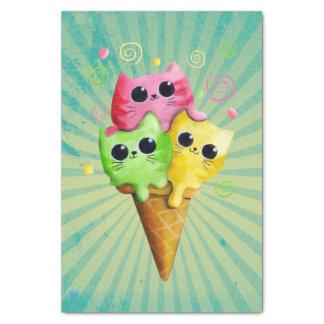 Cute Kitty Cat Ice Cream Tissue Paper