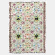 Cute Kitty Cat Lover's Pattern Throw Blanket