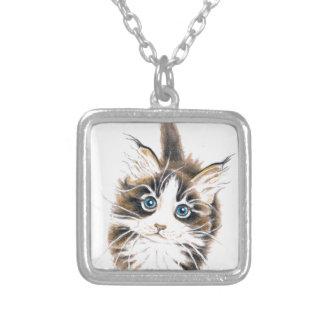 Cute Kitty Cat Custom Necklace