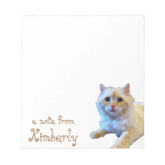 Cute Kitty Cat Personalized Notepad