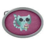 Cute Kitty Cat with Kawaii Cupcake Belt Buckles