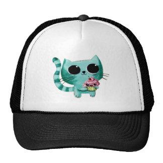 Cute Kitty Cat with Kawaii Cupcake Hats