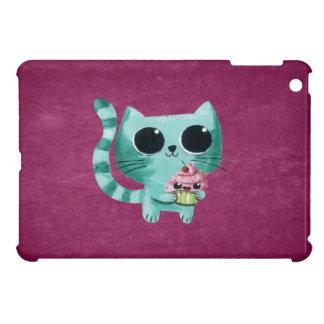 Cute Kitty Cat with Kawaii Cupcake iPad Mini Case