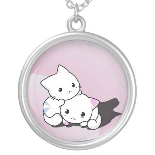 Cute Kitty Cats Personalized Necklace