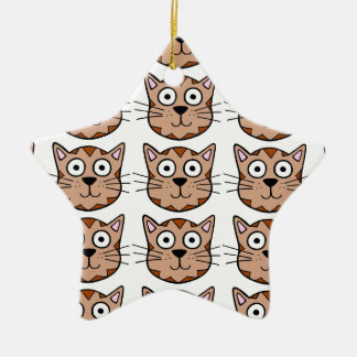 Cute Kitty Ceramic Star Decoration