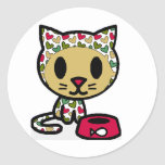 Cute Kitty Classic Round Sticker