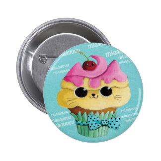 Cute Kitty Cupcake 6 Cm Round Badge