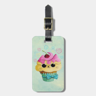 Cute Kitty Cupcake Luggage Tag