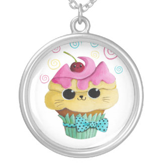 Cute Kitty Cupcake Necklaces