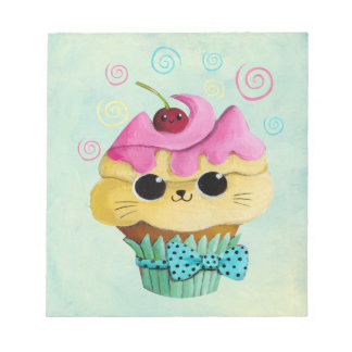 Cute Kitty Cupcake Notepads