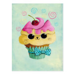 Cute Kitty Cupcake Post Cards