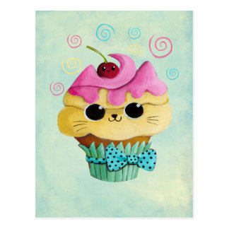 Cute Kitty Cupcake Postcard
