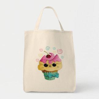 Cute Kitty Cupcake Tote Bag