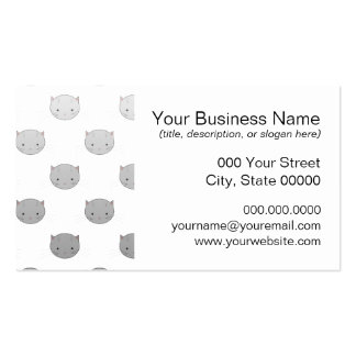 Cute Kitty Faces in Black White Grey Pack Of Standard Business Cards