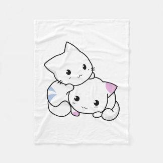 Cute Kitty Fleece Blanket