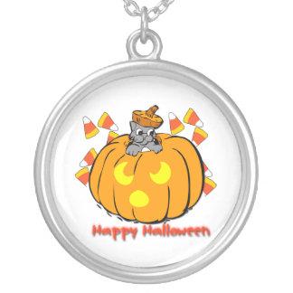 Cute Kitty Halloween Pumpkin Necklace