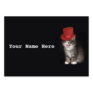 Cute kitty in hat business card template