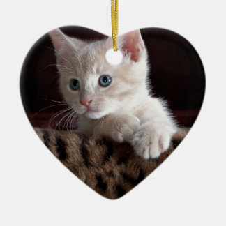 Cute Kitty Looking Christmas Ornament