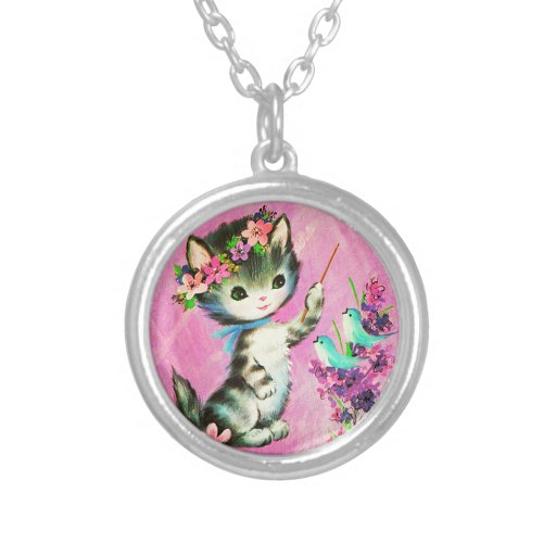 Cute kitty necklace vintage
