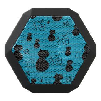 Cute kitty pattern black bluetooth speaker