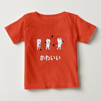 Cute Kitty Playing Golf Kawaii Word In Japanese Baby T-Shirt