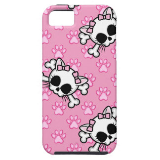 Cute Kitty Skull iPhone 5 Cases