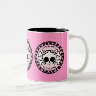 Cute Kitty Skull Two-Tone Mug