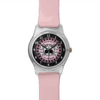 Cute Kitty Skull Watch