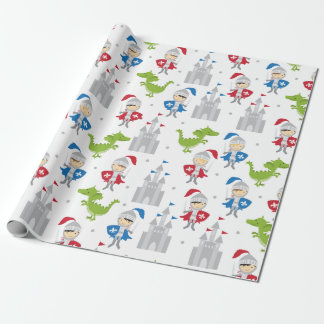 Cute Knights and Castles Wrapping Paper