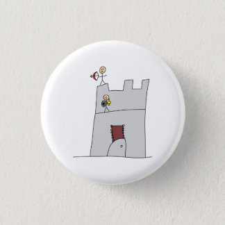 Cute Knights with Bow & Arrow & Sword in Castle 3 Cm Round Badge