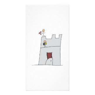 Cute Knights with Bow & Arrow & Sword in Castle Picture Card