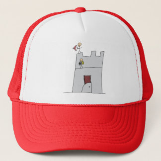 Cute Knights with Bow & Arrow & Sword in Castle Trucker Hat