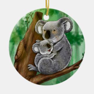 Cute Koala and Baby Christmas Ornament