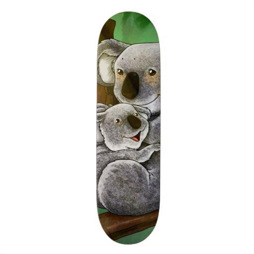 Cute Koala and Baby Skate Board Deck