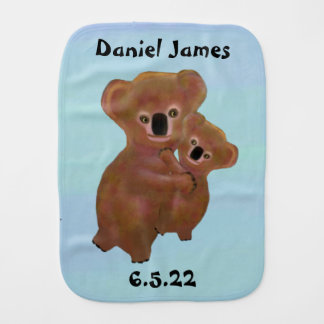 Cute Koala Baby Burp Cloth