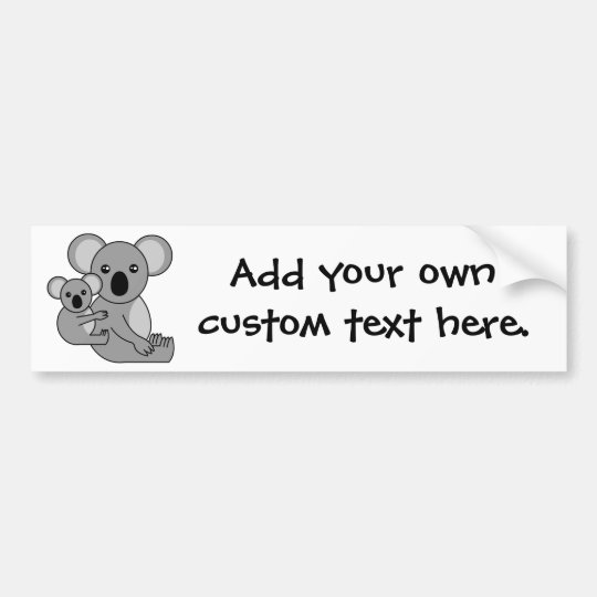 Cute Koala Bear and Baby Bumper Sticker
