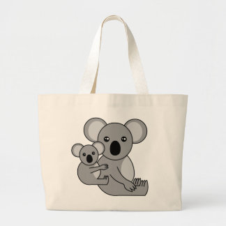 Cute Koala Bear and Baby Large Tote Bag