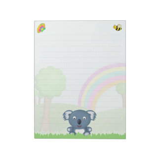 Cute Koala Bear and Insects Cartoon Notepads