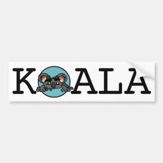 CUTE KOALA BEAR HORIZONTAL BUMPER STICKER