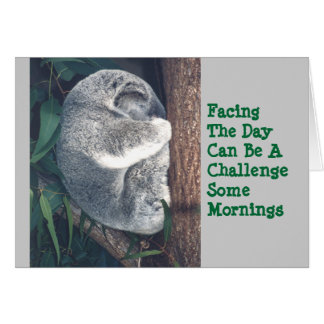 CUTE KOALA BEAR IN TREE/HUMOR/FRIENDSHIP CARD