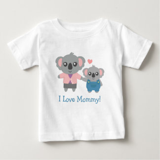 Cute Koala Bear Mommy and Child Baby T-Shirt
