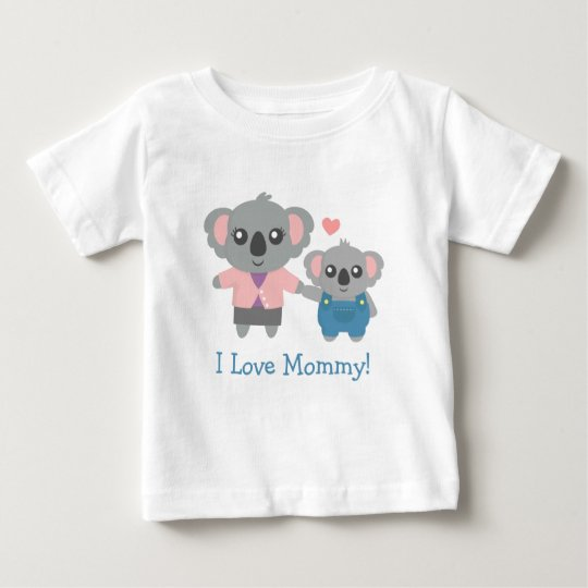 Cute Koala Bear Mummy and Child Baby T-Shirt
