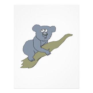 cute koala bear on branch full color flyer