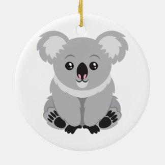 Cute Koala Bear Round Ceramic Decoration