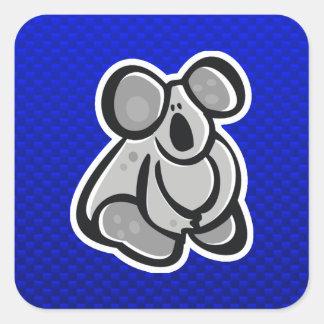 Cute Koala; Blue Square Sticker